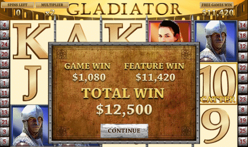 Φρουτακια Gladiator Coliseum Bonus win